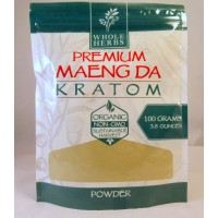 Whole Herbs - Premium Maeng Da Powder - Natural | Non-GMO | Organic (100gm)(3.5oz)
