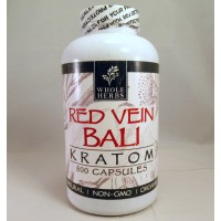 Whole Herbs - Red Vein Bali Capsules - Natural | Non-GMO | Organic (500ea)