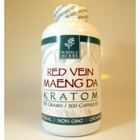 Whole Herbs - Red Vein Maeng Da Capsules - Natural | Non-GMO | Organic (500ea)