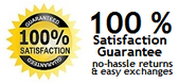 100% Satisfaction Guarantee - no-hassle returns and easy exchanges
